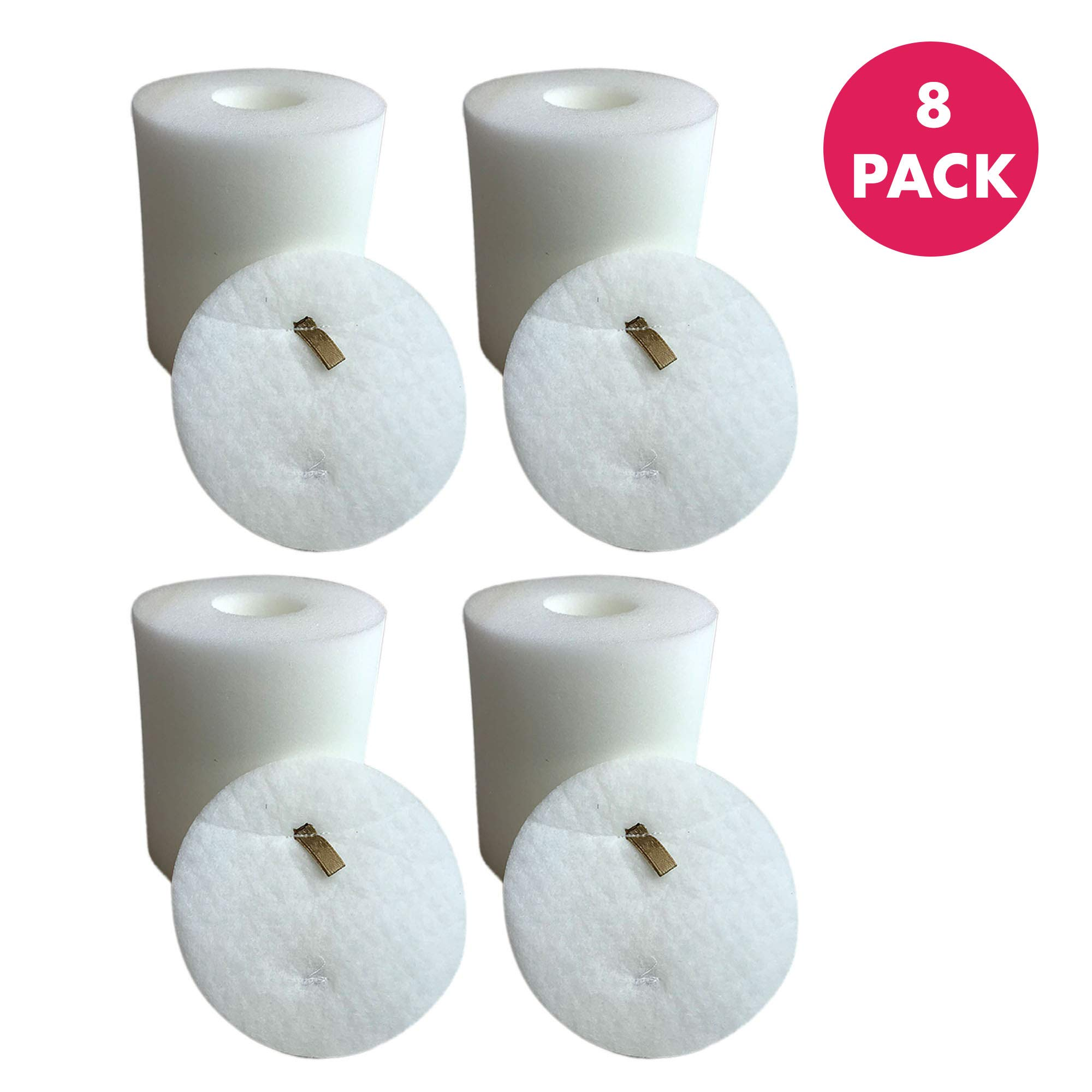 Crucial Vacuum Foam & Felt Filter Replacement Part # XFF500 - Compatible with Shark Rotator Models NV500 NV500CO NV501 NV502 NV503 NV505 NV510 NV520 NV552 NV753 UV560 NV642 - (8 Pack)
