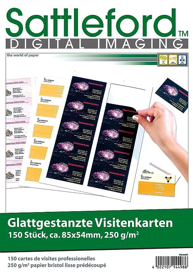 Sattleford Namensschilder 150 Business Visitenkarten Mit Glatten Kanten Laser Injekt 250g M Papier Vorgestanzt