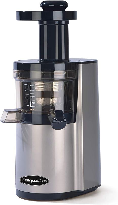 Omega VSJ843RS Hurom Extracteur de Jus Vertical Argenté