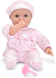 Melissa & Doug Mine to Love Jenna 12-Inch Soft Body Baby Doll (Romper and Hat Included, Great Gift for Girls and Boys - Best