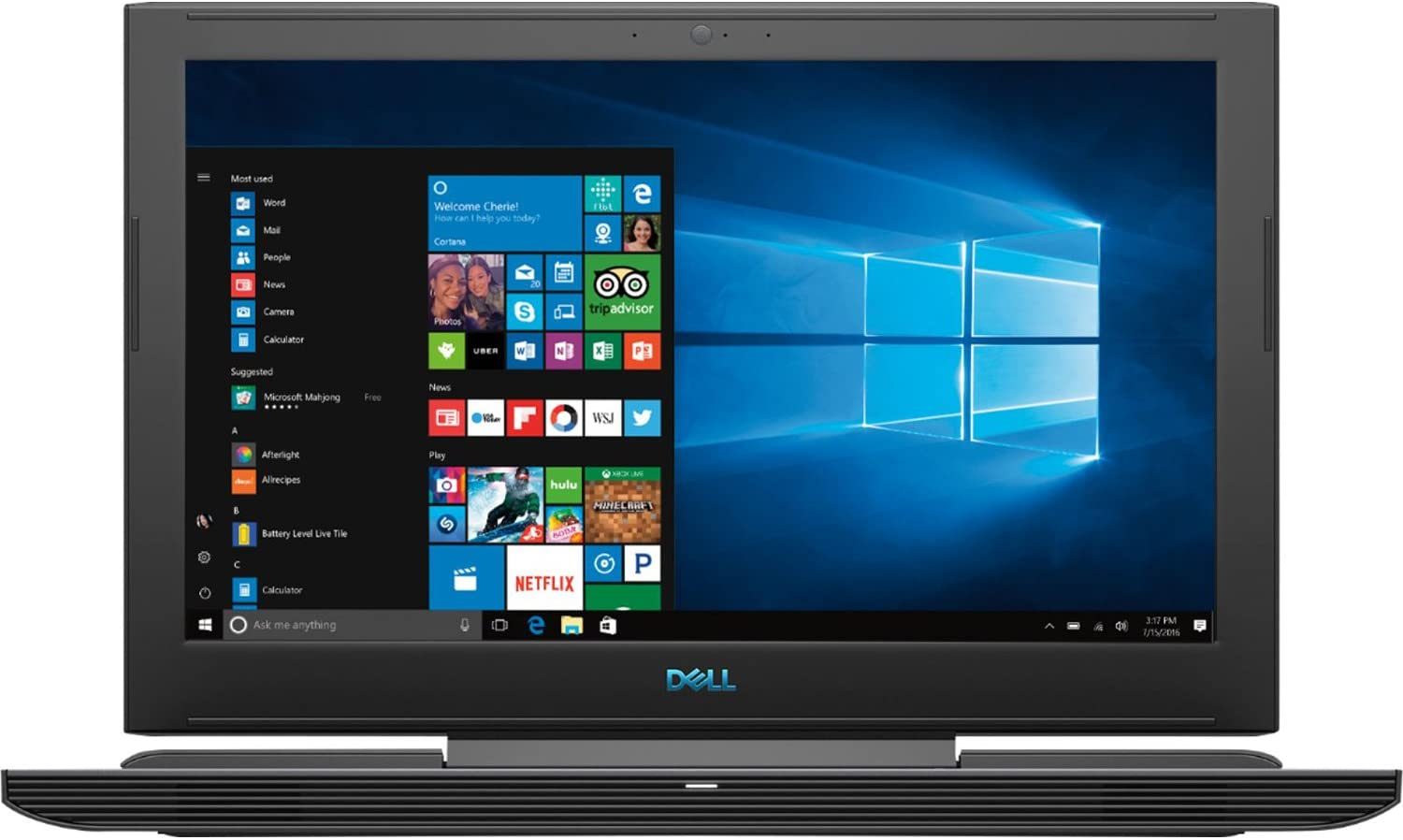 "Dell G7 Series 7588 15.6"" Full HD Gaming Laptop - 8th Gen. Intel Core i7-8750H Processor up to 4.10 GHz, 32GB RAM, 512GB SSD + 1TB HDD, 6GB Nvidia GeForce GTX 1060 with Max-Q Design, Windows 10"