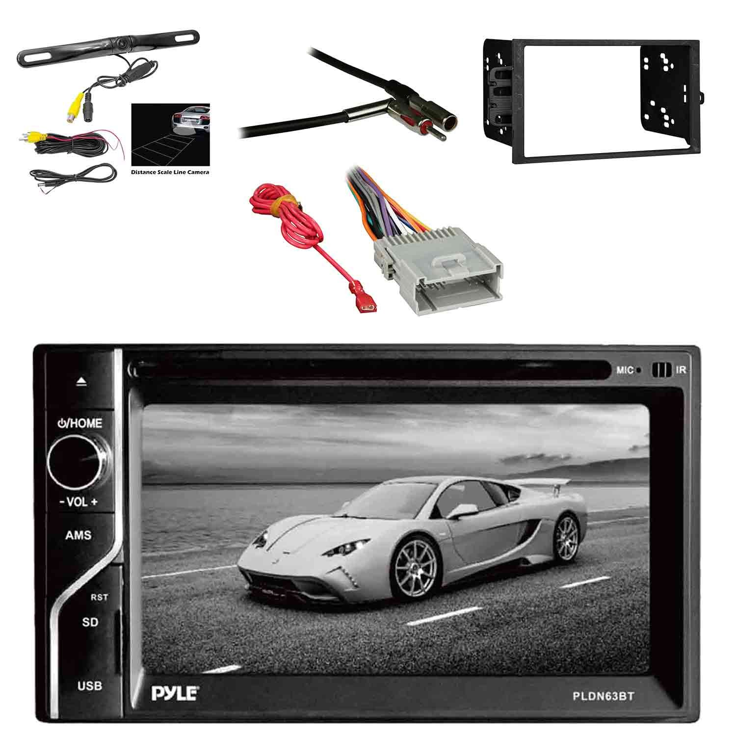 Amazon.com: Pyle PLDN63BT 6.5'' 2-DIN in-Dash Touch Screen BT ... on rear seat, rear drive shaft, rear lights, rear body harness,