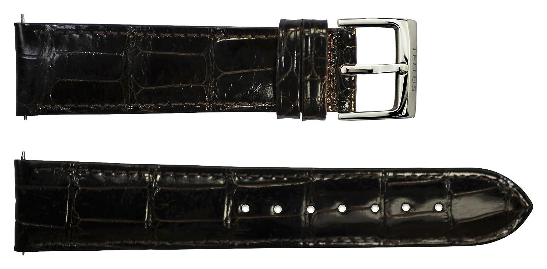 Armbanduhr lederarmband in Dunkelbraun Echte Schlangenhaut - 20 - - Schnalle in Edelstahl - B20054