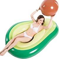 Jasonwell Inflatable Avocado Pool Float Floatie with Ball Water Fun