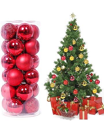 e119d376b37c8 Magicfun 24 Piezas Bolas de Navidad Adornos de Bola de Navidad  Inastillables Brillante árbol de Navidad