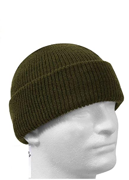 Amazon.com  Od Green Military Issue Watch Cap 100% Wool Skiing ... 340abf0ed07