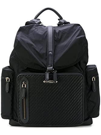 3aa58ccb2b Z Zegna Men's C1282pdptner Black Leather Backpack: Amazon.co.uk ...