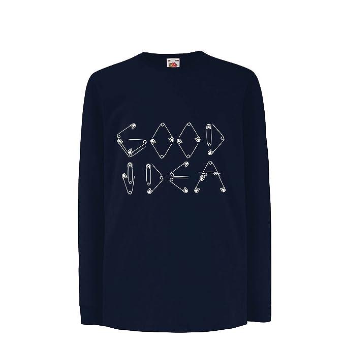 lepni.me Niños/Niñas Camiseta Una Idea Buena - Diseño Divertido para Frikis y
