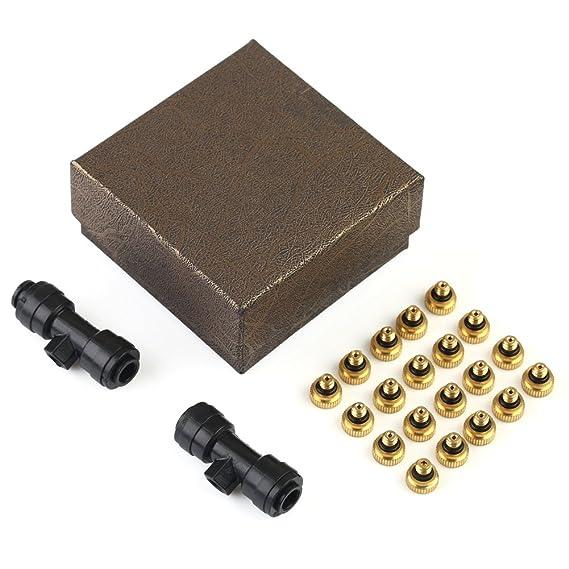 VERY100 - Boquillas para sistema de refrigeración (latón, 0, 3 mm, 10/24 UNC, 20 unidades): Amazon.es: Jardín