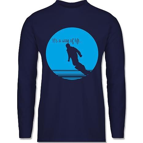 Après Ski - It's a Way of Life - Snowboarder - Herren Langarmshirt:  Shirtracer: Amazon.de: Bekleidung