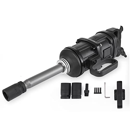 Mophorn 1 Inch Heavy Duty Pneumatic Impact Wrench 5800 Nm 4280ft.lbs AIR Impact Wrench with 8Inch Extended Anvil Impact Wrench Gun
