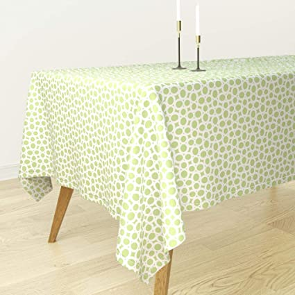 Amazon com: Roostery Tablecloth - Geometric Modern Loop Oval