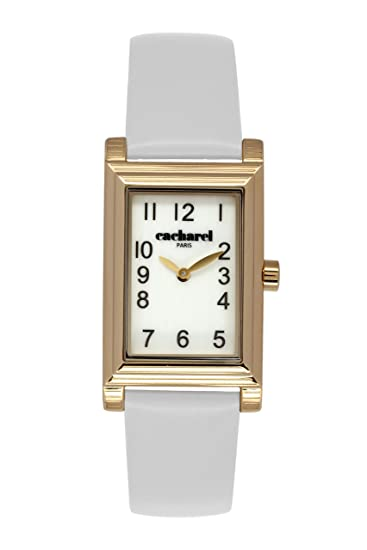 Cacharel CLD 007/1BB - Reloj de pulsera mujer, piel, color blanco