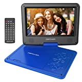 "DBPOWER 9.5"" Portable DVD Player, 5 Hour Rechargeable Battery, Swivel Screen, Supports SD Card and USB, Direct Play in Formats AVI/RMVB/MP3/JPEG (9.5, Blue)"