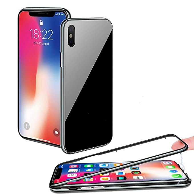 Black Friday Deals Cyber Monday Deals Effacer iPhone X Coque, Cadre Fin [magnétique Adsorption