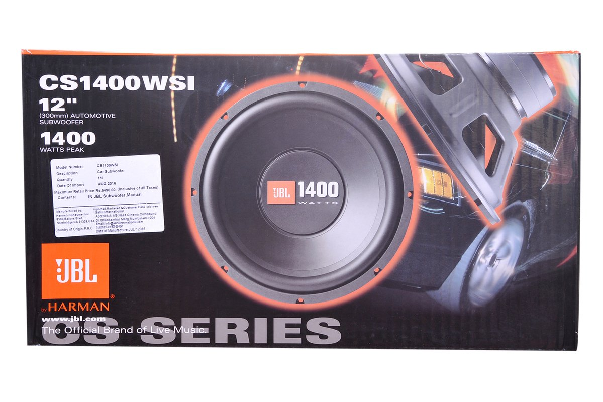 jbl car speakers price list. jbl - automotive subwoofer (300mm)- 1400 watts peak- cs1400wsi: amazon.in: electronics jbl car speakers price list