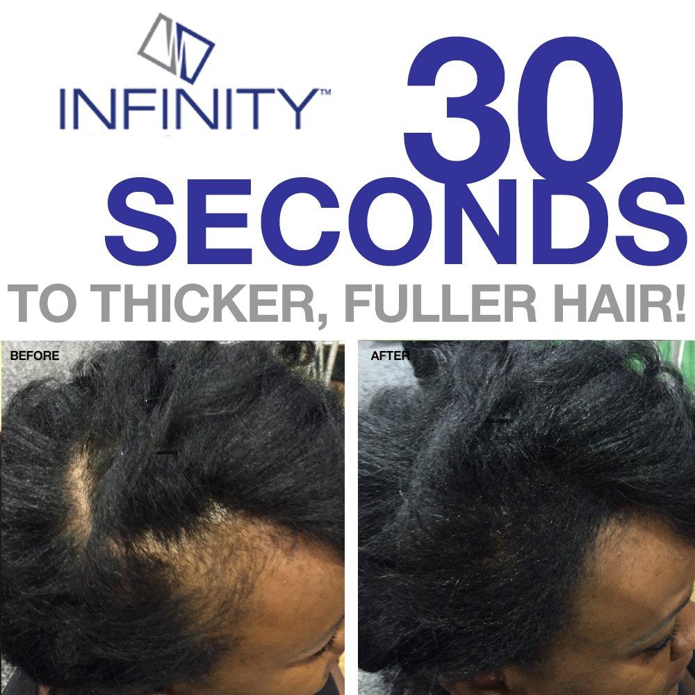 Infinity Hair Fibers, Dark Brown, 60g by Infinity (Image #6)