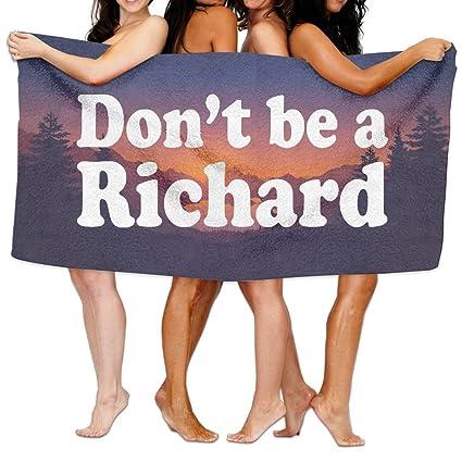 Dont Be A Richard - Toalla de algodón de tamaño grande