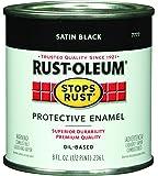 Rust-Oleum 7777730 Protective Enamel Paint, 8-Ounce, Satin Black
