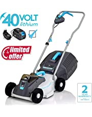 Swift 40 V EB132C2 Cordless Digital Compact Lawn Mower Cutting Width 32 cm,with Battery and Charger