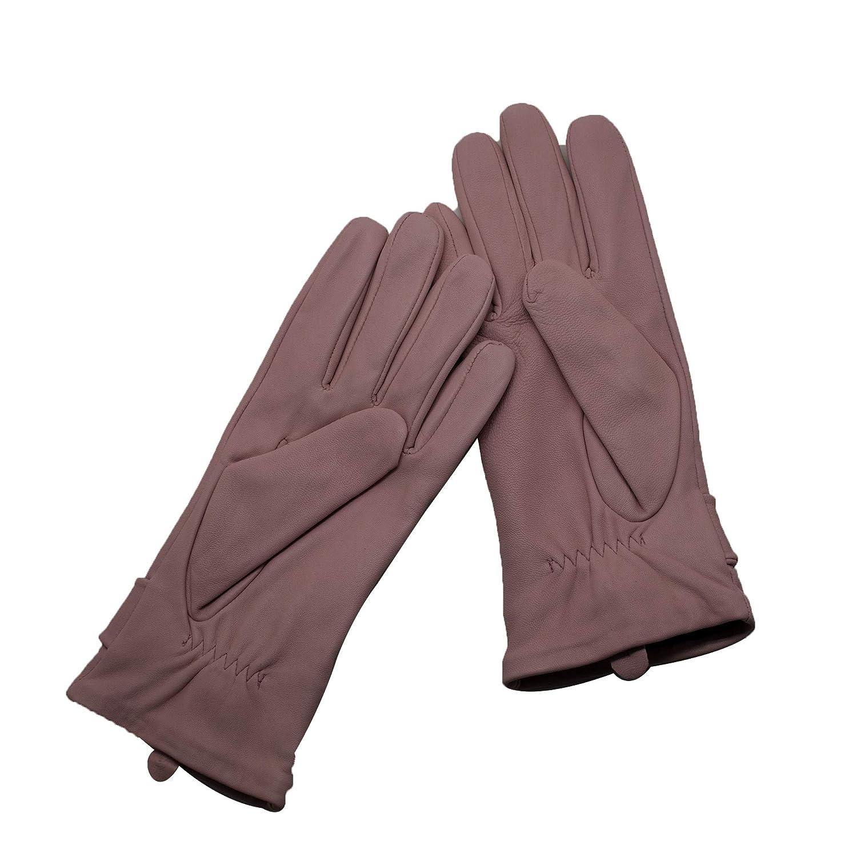 8125ab8a5d2d3a Damen YISEVEN Soft Damen Lederhandschuhe für Winter Warm Lammfell Farbige  Handschuhe 100%