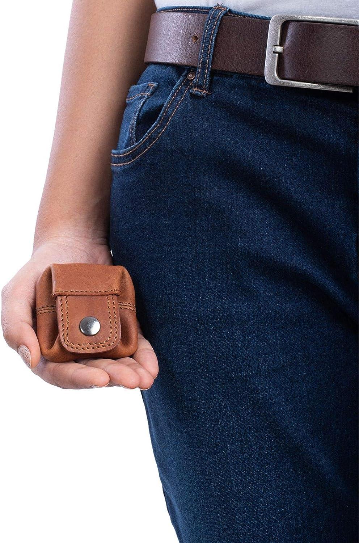 STILORD Varys Bourse Porte-Monnaie Cuir Sac /à Monnaie Petit Vintage Mini-Portefeuille Portefeuille Cuir V/éritable Couleur:Cognac Marron fonc/é
