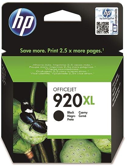 HP CD975AE 920XL Cartucho de Tinta Original de alto rendimiento, 1 unidad, negro