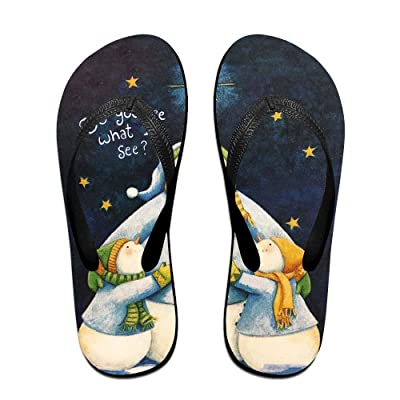 Creative Snowman Family Funny Pattern Unisex Fashion Beach Flip Flops Sandals Slippers Sandal For Home & Beach