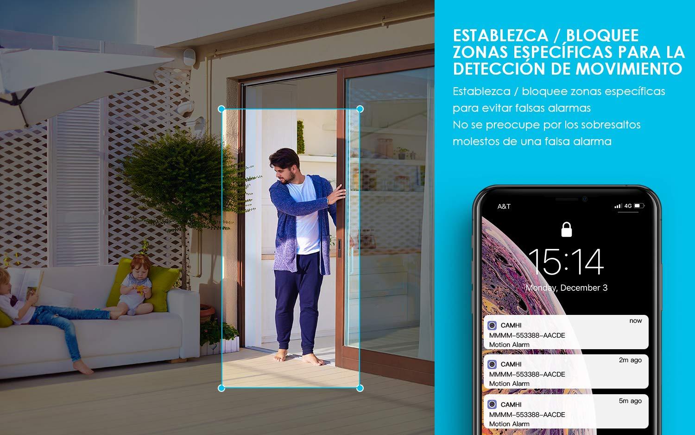 Cámara de Vigilancia Exterior,ieGeek Cámara IP Wi-Fi HD 1080P, Versión Nocturna 25M, Impermeable IP66, Detección de Movimiento, Cámara de Seguridad, ...