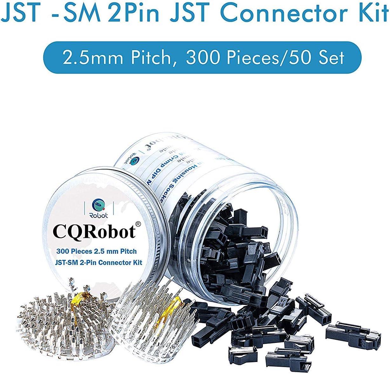 JST Adapter Cable Connector Socket Male and Female. 300 pcs JST Connector Kit//Crimp DIP Kit JST-SM-2-Pin Pin Housing Male and Pin Housing Female 2.5mm Pin Pitch