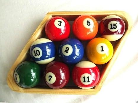 cueball16 R.L.B.C Sales - Estante de 9 Bolas de Madera para Bolas ...