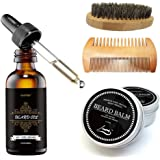 Cosprof Beard Balm Moustache Cream Beard Oil Set Conditioner Beard Balm Healthy Moisturizing Moustache Wax Brush Comb