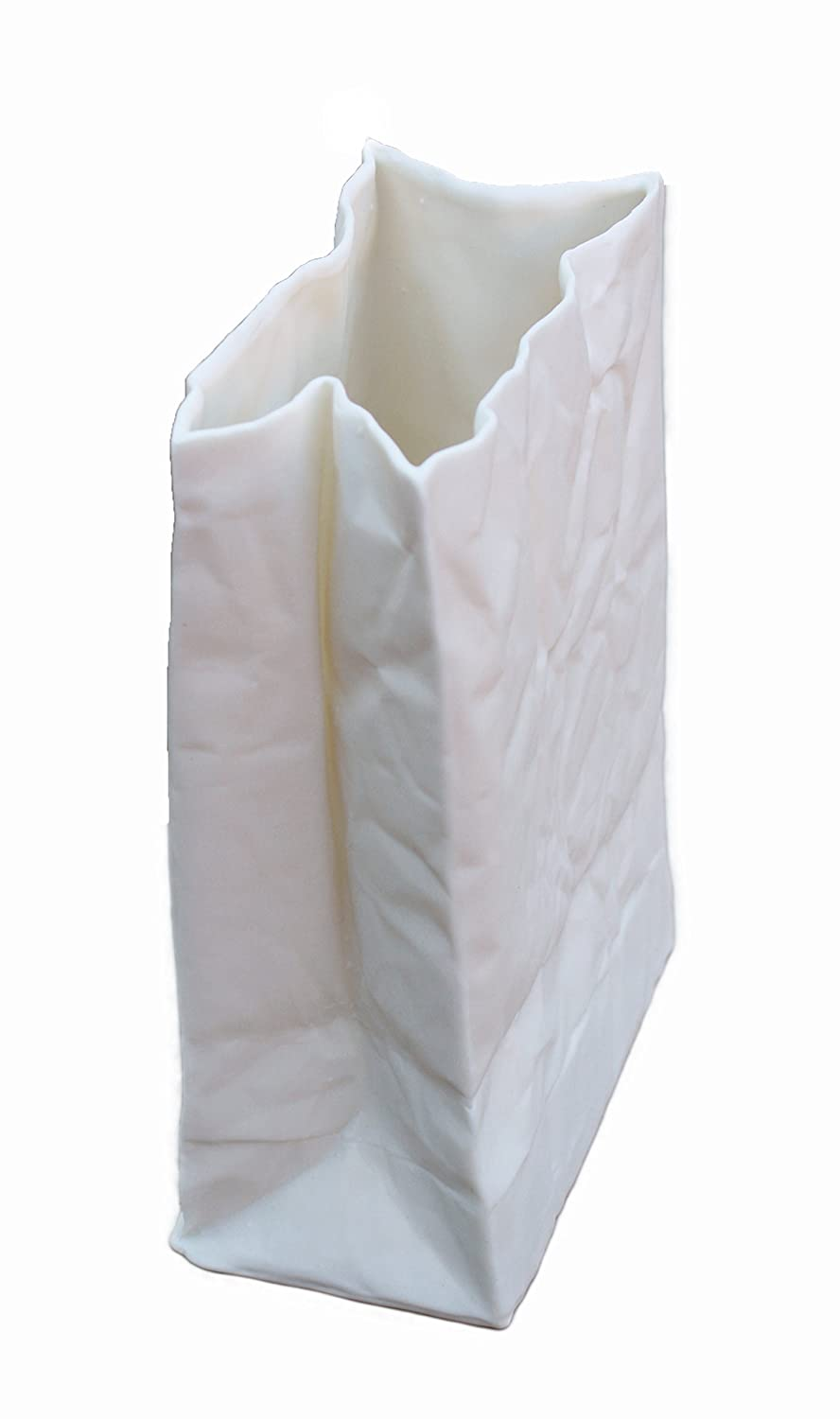 Amazon ceramic paper bag vase handmade floridaeventfo Gallery