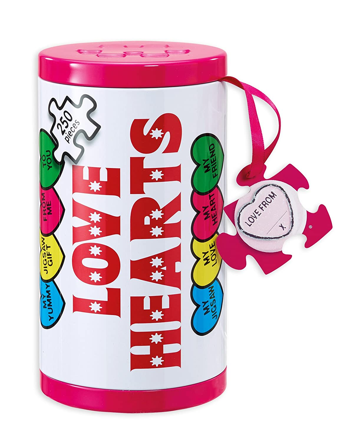 GIBSONS  JIGSAW PUZZLE 250 Piece LOVE HEARTS In a Tin