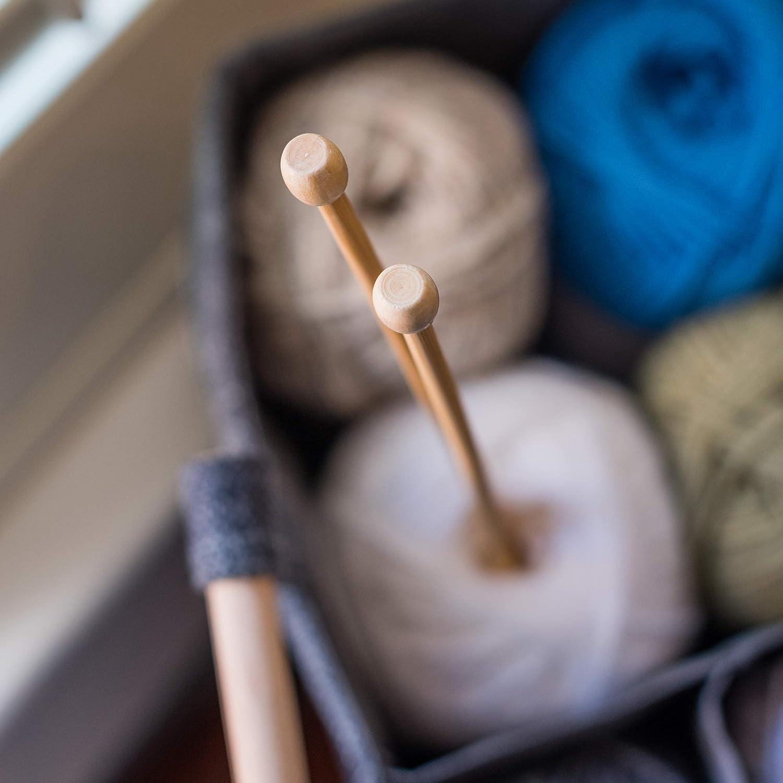 Ferri da Maglia in bamb/ù Korbond 4 mm x 35 cm