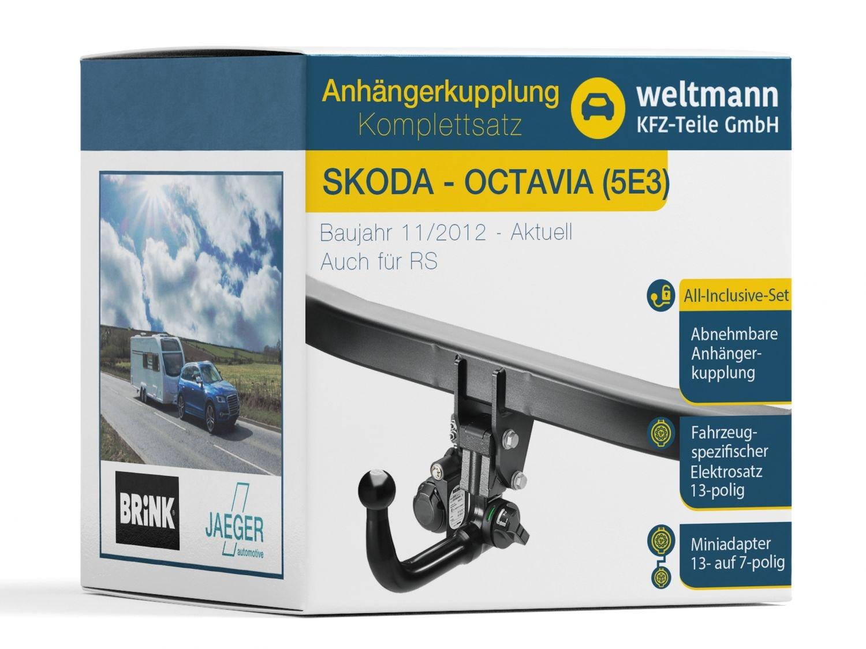 Für Octavia Kombi Typ 1Z Westfalia Anhängerkupplung starr /& 13poliger E-Satz SET