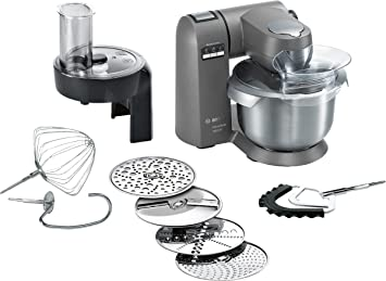 Bosch MUMX30GXDE Küchenmaschine MaxxiMUM (1600 W, SensorControl  Automatikfunktion, 5,4 L Edelstahl