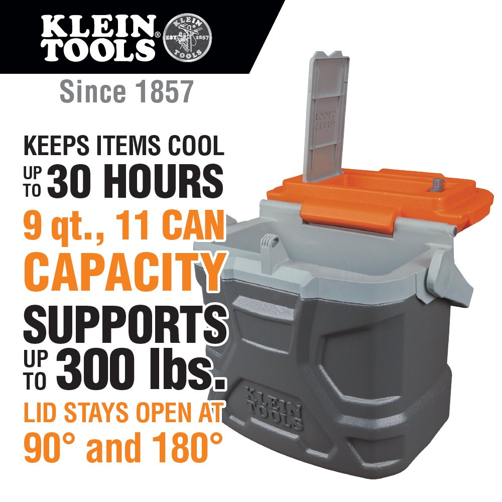 Lunch Box, Insulated Cooler Tote Has 9-Quart Capacity and Seats up to 300 Pounds Klein Tools 55625 by Klein Tools (Image #2)