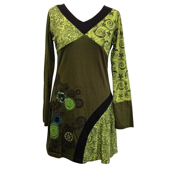 No Name Camicia Tunica donna verde erba XXL: Amazon.it