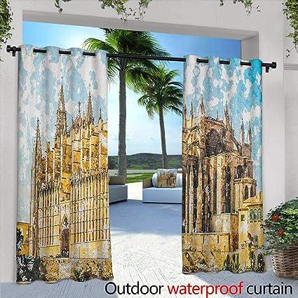Amazon.com: Cortinas góticas para salón con símbolo de ...
