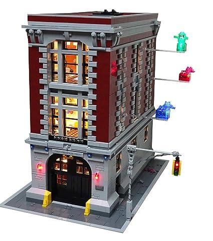 Amazon Brick Loot Ghostbusters Firehouse Headquarters Lighting