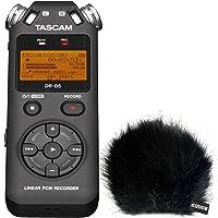 Tascam DR-05 V2 Audio-Recorder + KEEPDRUM Fell-Windschutz WSBK