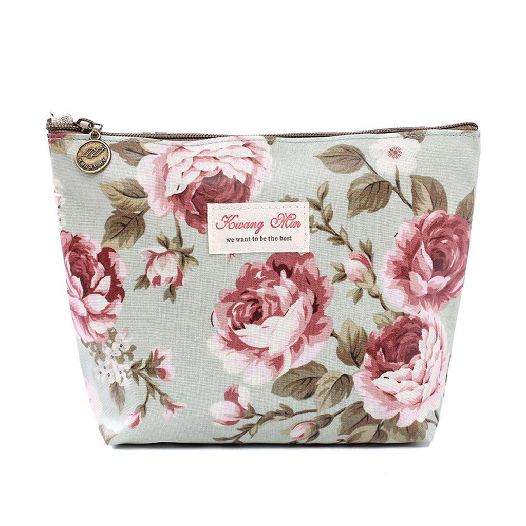 ECMQS Vintage Flower Floral Federmäppchen Kosmetiktasche für Aufbewahrungstasche