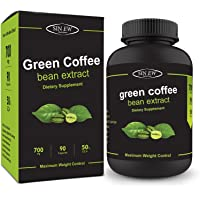 Sinew Nutrition Green Coffee Beans Extract 700 mg (90 Count), 100% Pure & Natural Weight Management & Appetite Suppressant Supplement