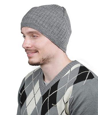 80f524bfef9 Kosha Men s Merino Wool Monkey Cap Dark Grey  Amazon.in  Clothing ...