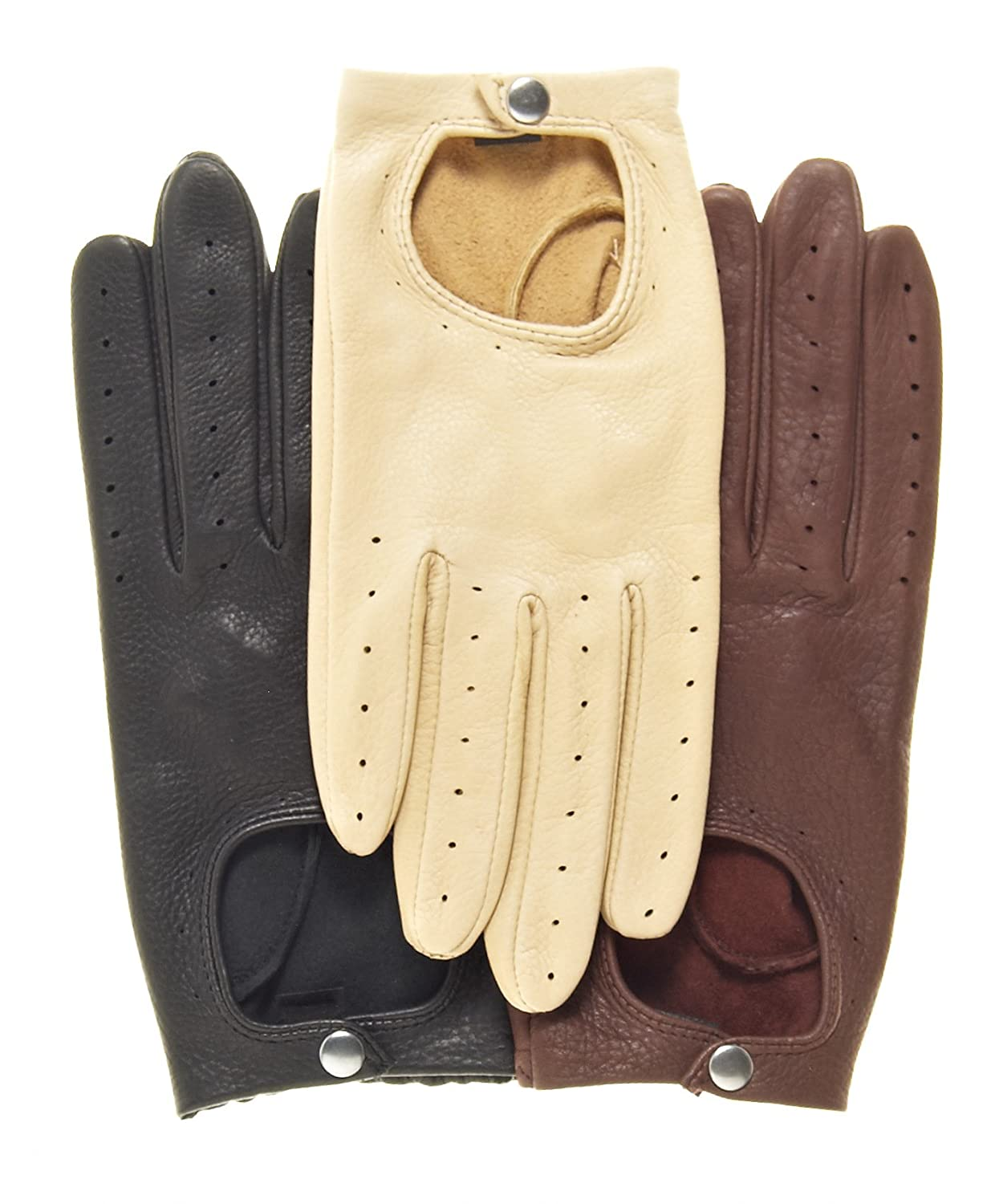Yellow leather driving gloves - Pratt And Hart Women S Deerskin Leather Driving Gloves Size S Color Black At Amazon Women S Clothing Store Cold Weather Gloves