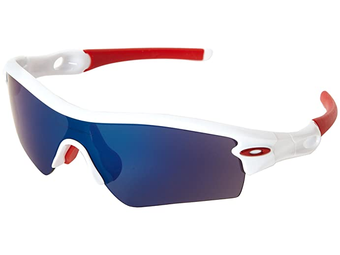 4fbc002a50 ... order oakley mens radar path asian fit sport sunglasses polished white  ice iridium af635 572d0