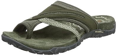 Merrell Terran Post II Womens Sandals 5 B(M) US Women Dusty Olive