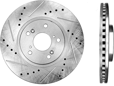 For Acura CL TL TSX Honda Acoord Set of 2 Front Disc Brake Rotors and Pads Kit