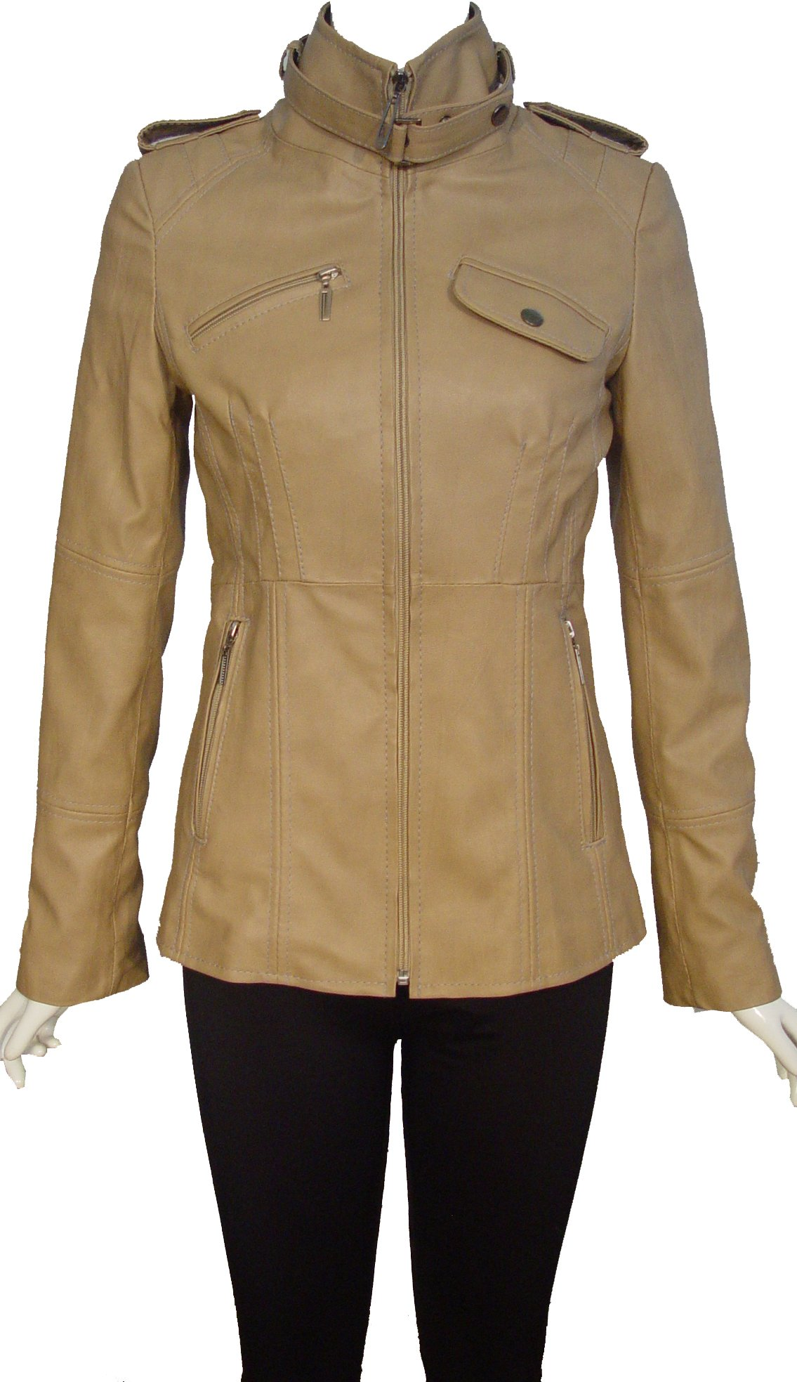 Nettailor 4205 Fine Leather Motorcycle Jackets Ladies Genuine Lambskin by NETTAILOR (Image #5)